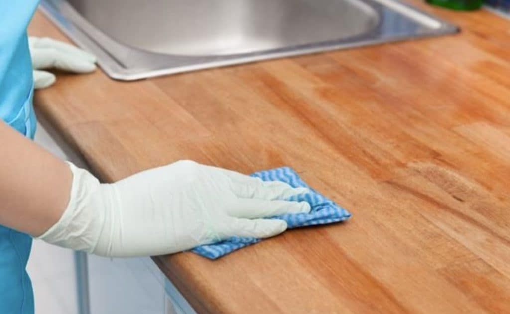 Effect of oven cleaner on kitchen counter tops
