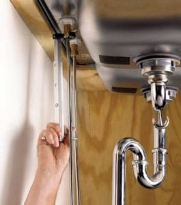 Remove kitchen faucet without basin wrench